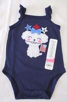 Jumping Beans 3 6 9 months Puppy Dog USA bodysuit 4th of July New