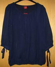 Livre Bluse Blusenshirt Shirt Chiffonbluse Chiffon blau dunkelblau Gr. 42