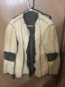Vintage 50s M-51 Field Jacket Liner MIL-L-11449 Coat M1951 Korean War Era Medium