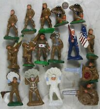 "Lot of 1930's Composition 3 1/2"" WWII Army Soldier Barclay Type"