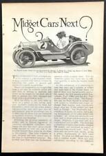 "English Austin Racer Coupe Rosengart Roadster 1930 pictorial ""Midget Cars Next?"""