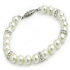 Cream & Pearl Colour Glass Bead Crystal Bracelet Special Offer