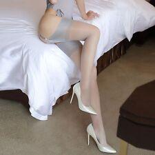 Bas classiques gris pour porte-jarretelles sexy glamour pinup rétro