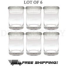 Glass Stash Storage Nug Jar Airtight Smell-Proof 1/8 Medical Jar - LOT OF 6