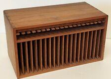 Vintage Kalmar Designs Teak Wood 20 CD Holder Danish Mid Mod