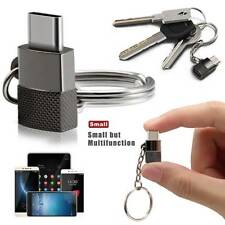 Mini Keychain Micro USB to USB Type C Charger Adapter Converter for Android