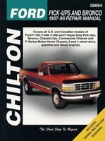 Chilton's Ford Pick-Ups and Bronco 1987-96 Repair Manual (Chilton's Total Car…