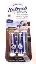 6 PK Refresh Odor Eliminating Auto Vent Stick Air Freshener new car Cool Breeze