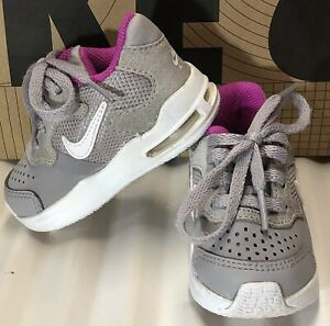 NIKE Air Max Guile (TD) Grey/White Sneakers Toddler Girl's Size 4C. 917644-004.