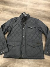 New Ralph Lauren Polo Men's Quilted Jacket Vintage Classic Large Grey