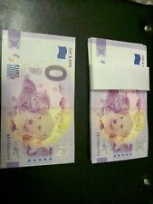 Billet zéro eurosouvenir anniversary CAT & DOG