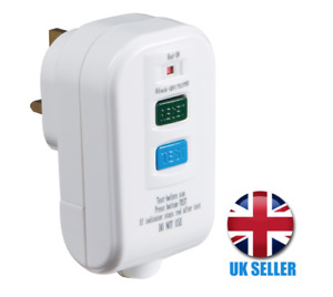 RCD Rewireable 13A Safety Plug, White RCD002 Knightsbridge