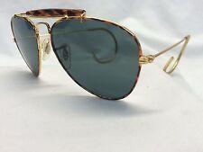 2 Pr Lot New Old Stock Cop Sunglasses Pilot Tortoise Cables Glass Lens WHOLESALE