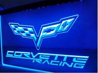 "Corvette Racing 12"" x 8"" Led Neon Sign"