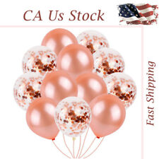 US 40pc Rose Gold Confetti Balloons Latex Birthday Party Fairy Decor Wedding