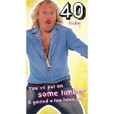 KEITH LEMON âge 40 ans / 40th Carte De Joyeux Anniversaire Comédie Drôle carte