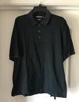 EUC Kirkland Signature Polo Golf Shirt  Navy Check XL