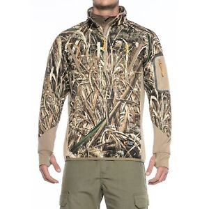 New Men`s Browning Wicked Wing Smoothbore 1/4 Zip Neck Pullover Realtree Max 5