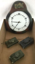 Military Time Tank Clock & (3) Solido Model Tanks Lot 3191