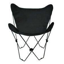 Algoma Butterfly Chair & Cover Combination w/Black Frame Ebony Cotton Fabric NEW
