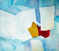 Bild Acryl Handgemalt Original Abstrakt Modern Signiert Datiert 50x60 cm Neu