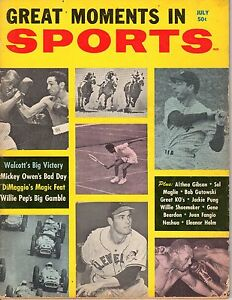 1958 Great Moments in Sports,Baseball magazine,Joe DiMaggio,New York Yankees ~Pr