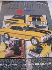 BIANTE BROCHURE FORD FALCON XY GT HO YELLOW