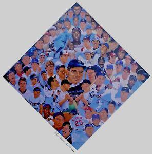 ROBERT SIMON 1998 70 KARAT DIAMOND PRINT 70 PLAYERS 11x17 LITHOGRAPH