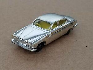 Vintage 1960's Husky Jaguar MK.10 Chrome Diecast Clean Shelf C1
