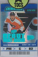Connor Bunnaman 2019-20 UD Credentials Debut Ticket Access 579/699 Flyers
