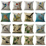 "18"" Pillow Case Home Decoration Color Painting Animal Cartoon Bird Cushion Cover"