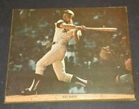NEW YORK YANKEES ROY WHITE PHOTO 8X10 MOUNTED ON WOOD VINTAGE VERY RARE PIECE