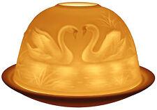 Cygnes light-glow tealight bougeoir thé lumière dôme en céramique votive Coffret Cadeau
