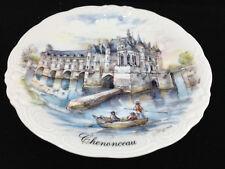 Plate Nem Decor France Chenonceau Porcelain Decorative Castle Boat Oars Rowing