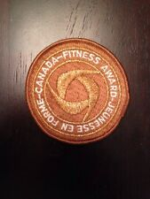 "New Vintage Canada Fitness Award Sew On Embroidered Patch 3"" Gold"