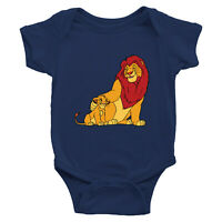 Lion King Simba Mufasa Family Infant Baby Rib Bodysuit Jumpsuit Romper Newborn