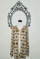 Haute Hippie Blazer Jacket Top Gold Sequince Multi 100% Silk Size XS    $1195.00