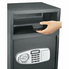 Modern Safe Box Depository Drop Deposit Front Load Cash Money Cabinet Slot Lock