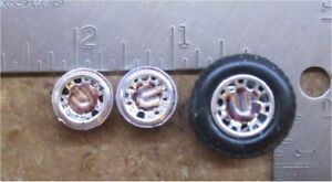1/32 - TIRES & WHEELS 3/4 INCH DIA. with ONE AXLE-FOR SCRATCHBUILDING-LOT 15