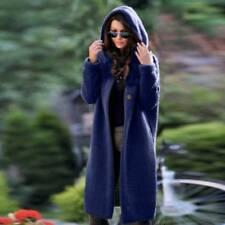 Womens Knitted Long Sleeve Hooded Cardigan Sweater Coat Jumper Winter Outwear