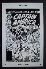 Lg. Production Art CAPTAIN AMERICA #268 cover, MIKE ZECK art, 11x17, Defenders