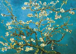 V.Gogh - Almond Blossoms Large A2 size (42x59.4cm) Canvas Print Poster Unframed