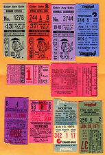 (10) VINTAGE BASEBALL TICKET STUBS (1966-1980)-METS, PHILLIES, TWINS, WHITE SOX