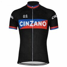 Mens Team Retro Cinzano Cycling Jerseys Short Sleeve