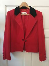Military style vintage red Windsmoor 10 12 jacket with velvet collar