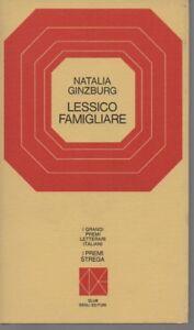 Premio Strega 1963 - Lessico Famigliare - Natalia Ginzburg - CDE