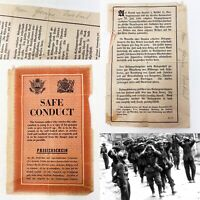 Rare WWII Airdropped Surrender Leaflet German Wehrmacht Bulge Vet WW2 Relic