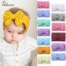 Toddler Girls Baby Turban Solid Headband Cute Hair Band Bow Accessories Headwear