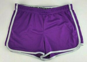 Justice Youth Girls Size 16 Purple White Athletic Mesh Shorts