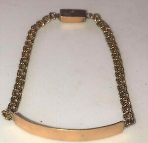 Vintage 10K Yellow Gold CHILD BABY ID BRACELET (Unisex)
